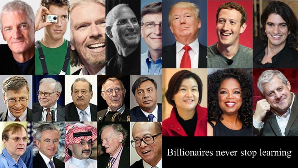 Billionaires Never Stop Learning